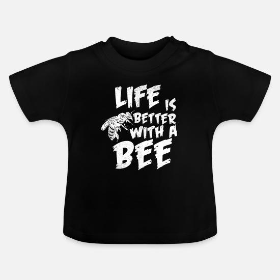 Gift Idea Baby Clothes - Bee hive insect - Baby T-Shirt black