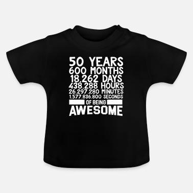 Anni 50 50 50 anni 50 anni 50 anni 50 regalo 50 - Maglietta neonato 539616603b7