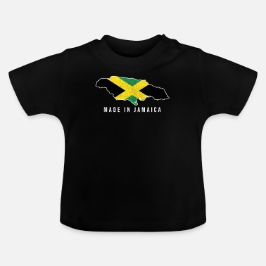 Född I Jamaica Made In Tshirt Född med Country Soccer Fla - T-shirt baby