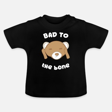 Middelvinger Ferret - Frett - Bad to the Bone - Evil - Baby T-shirt