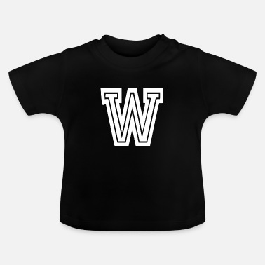 Letter W w - College School University College - Baby T-Shirt