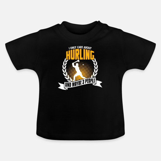 Hurl Baby Clothes - Funny Hurling T-Shirt Birthday Gift - Baby T-Shirt black