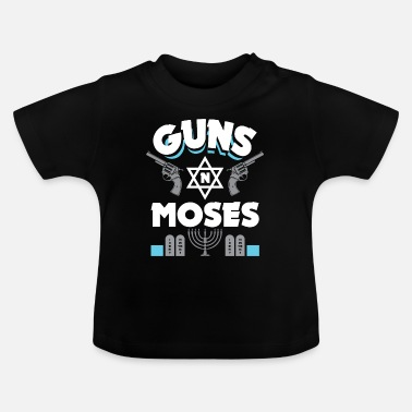 Stone Tablet Guns N Moses - Funny Jewish saying - Baby T-Shirt