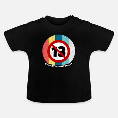 Dag Artikel 13 Vintage Europe Internet Save Gift - Baby T-shirt
