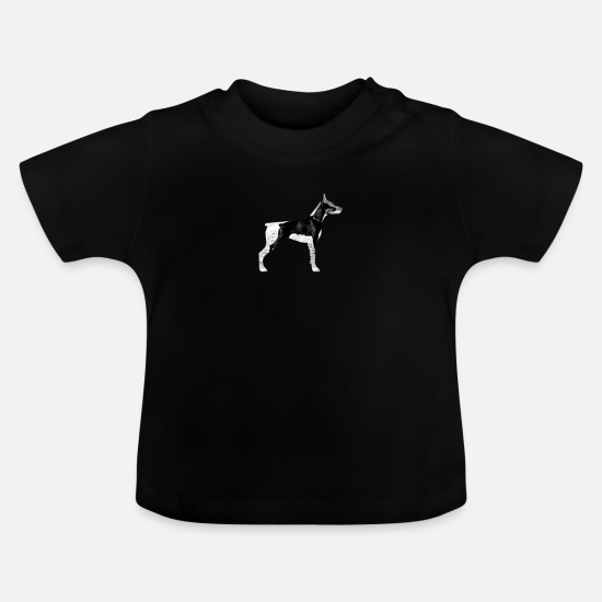 Dog Friend Baby Clothes - Doberman Shirt - Picture in Picture - Baby T-Shirt black