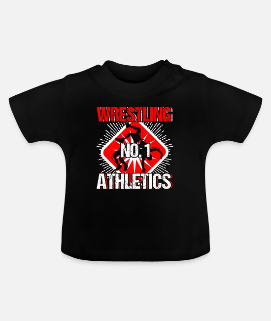 No Baby T-Shirts - Wrestling No 1 Athletics Sport Gift - Baby T-Shirt Schwarz