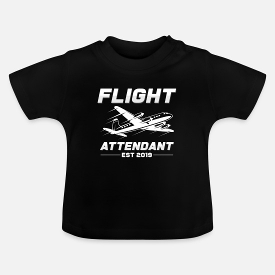 Birthday Baby Clothes - flight attendant - Baby T-Shirt black