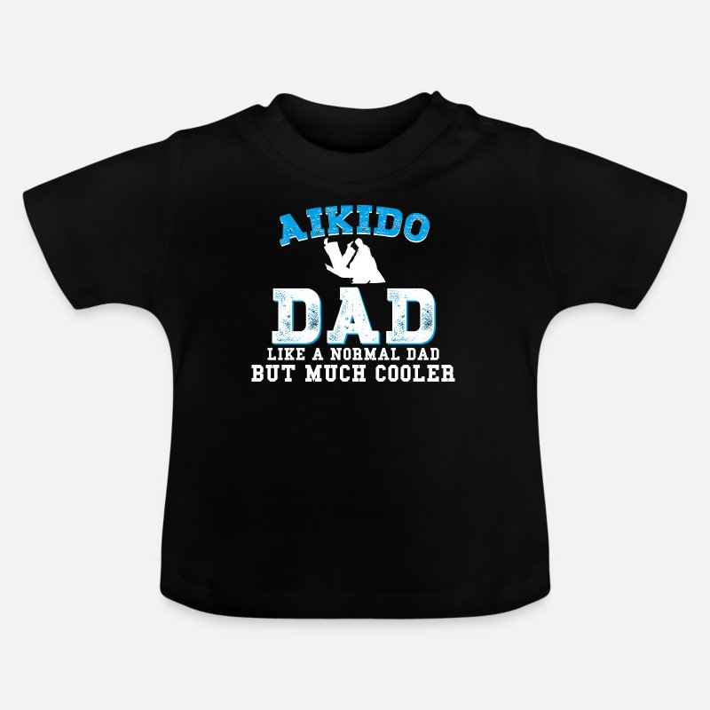 Martial Arts Baby Clothes - Aikido - Baby T-Shirt black