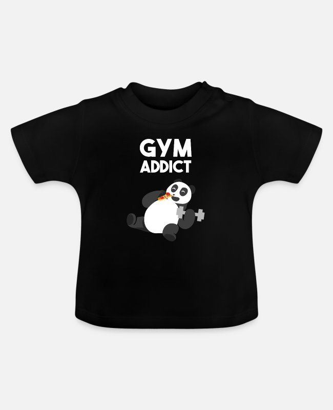 Pizza Baby T-Shirts - Gym - Baby T-Shirt black