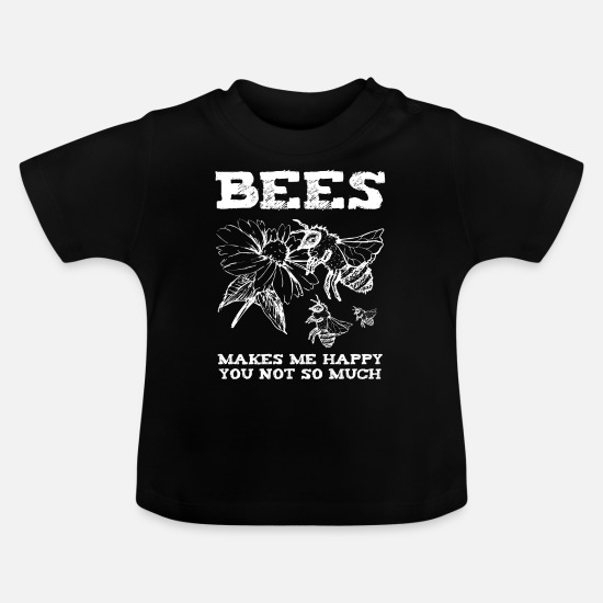 Stitch Baby Clothes - Bee Bee Yellow Fly Pollen Blossom Besteuben - Baby T-Shirt black