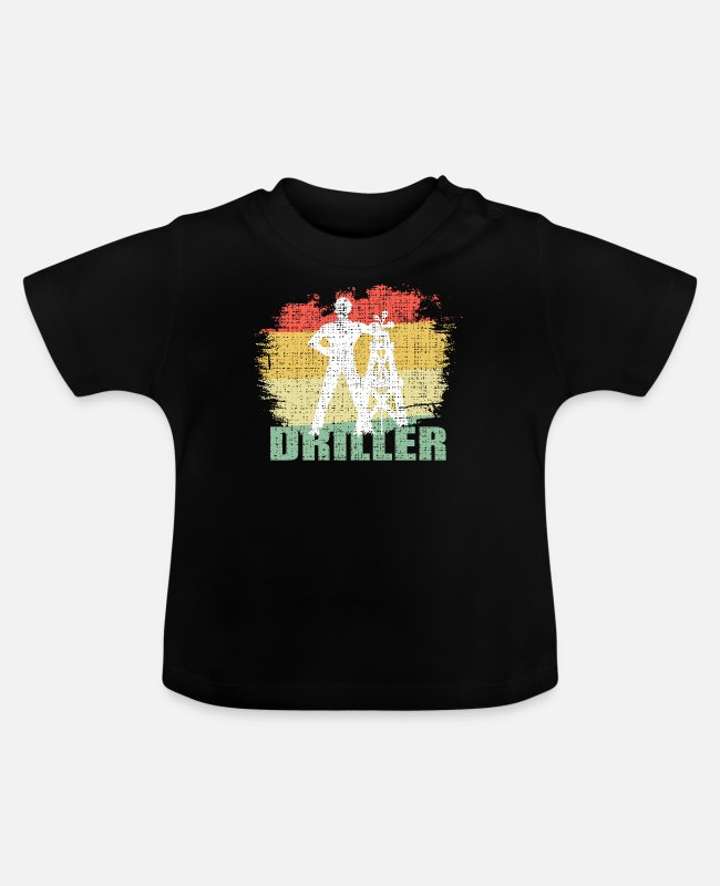 Occupation Baby T-Shirts - Vintage Driller Tee Shirt - Baby T-Shirt black