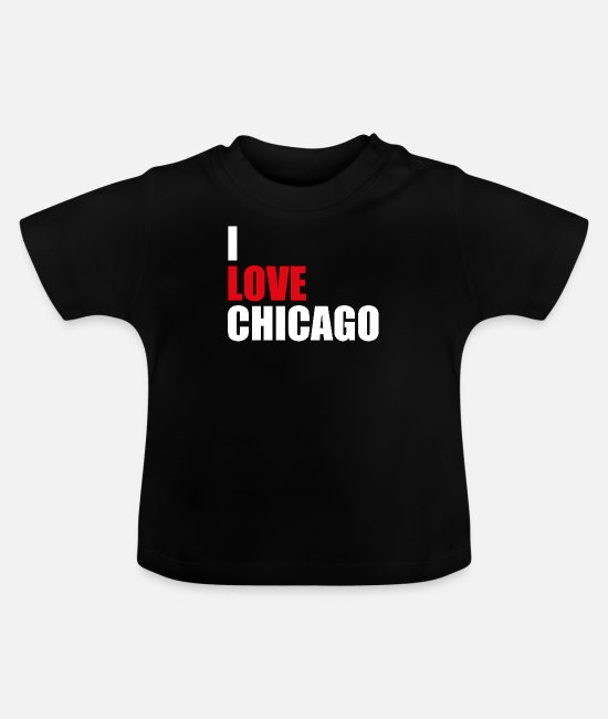 Chikago Baby T-Shirts - Chicago Illinois - Baby T-Shirt Schwarz