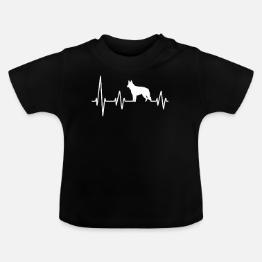 Guard Dog Service Dog Police Dog German shepherd heartbeat Funny design dog owner - Baby T-Shirt