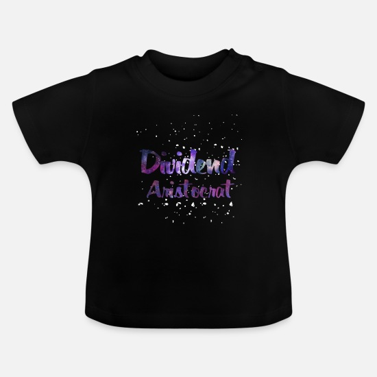 Moneygrubbing Baby Clothes - Stocks Money Stock Exchange Dividends Finance Gift - Baby T-Shirt black