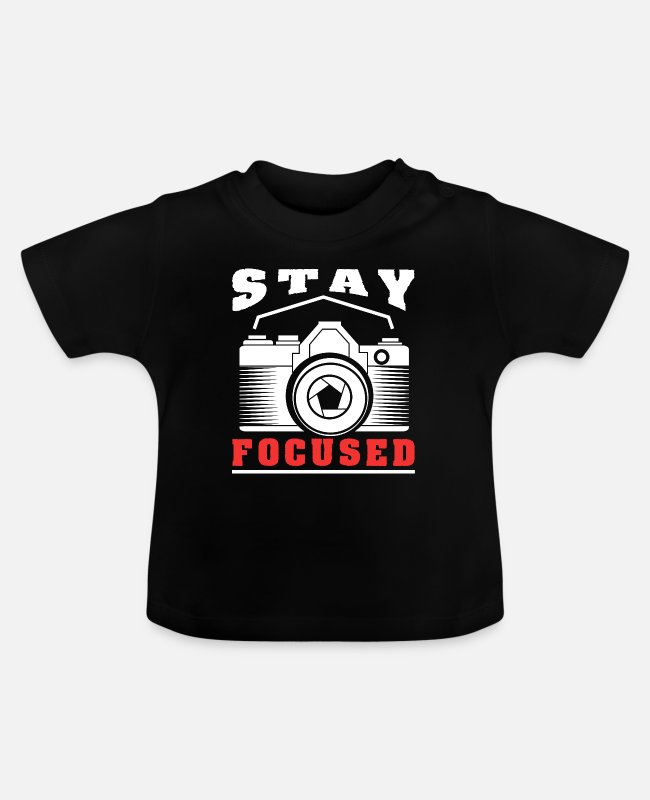 Photography Baby T-Shirts - Photography Photographer Fan Lover Gift - Baby T-Shirt Schwarz