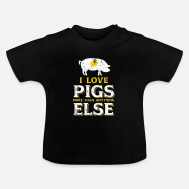 Stall Pig farmer stall animal gift - Baby T-Shirt