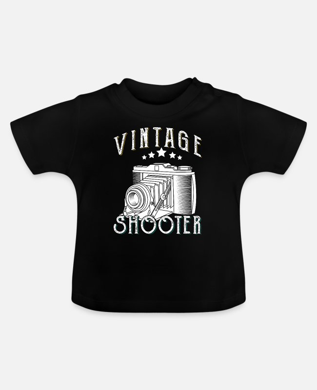 Photography Baby T-Shirts - Photography Photographer Fan Lover Gift Vintage - Baby T-Shirt Schwarz