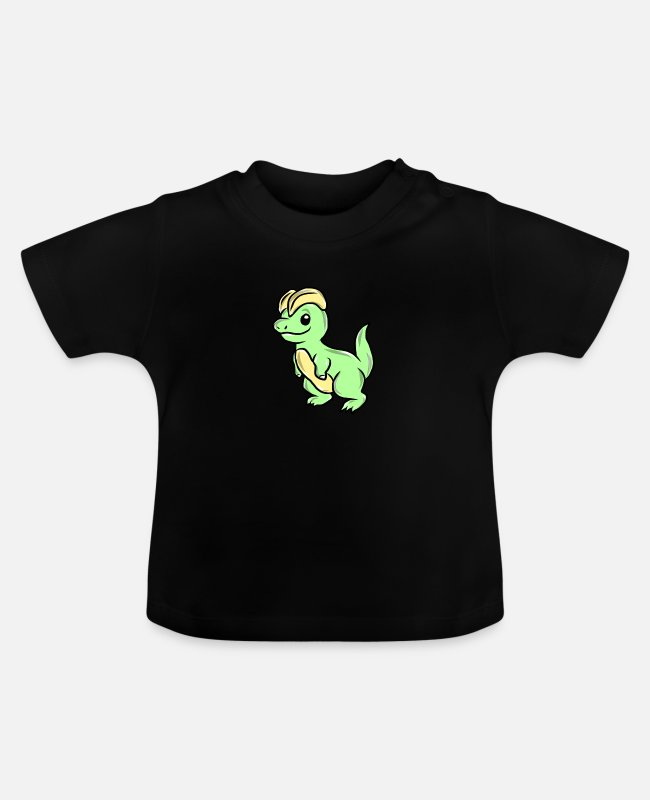 Dinosaurs Baby T-Shirts - Dinosaurier - Baby T-Shirt Schwarz