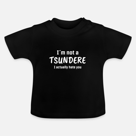 Gift Idea Baby Clothes - Tsundere Anime graphic | Comic Books Girl Tee - Baby T-Shirt black