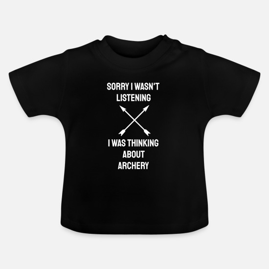 Sports Baby Clothes - Archery Bow Hunting Archer Crossbow Arrow - Baby T-Shirt black