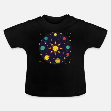 Planet Kids Solar System Planets Earth Sun Boys Girls - Baby T-Shirt