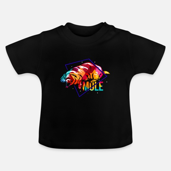 Gift Idea Baby Clothes - mole - Baby T-Shirt black