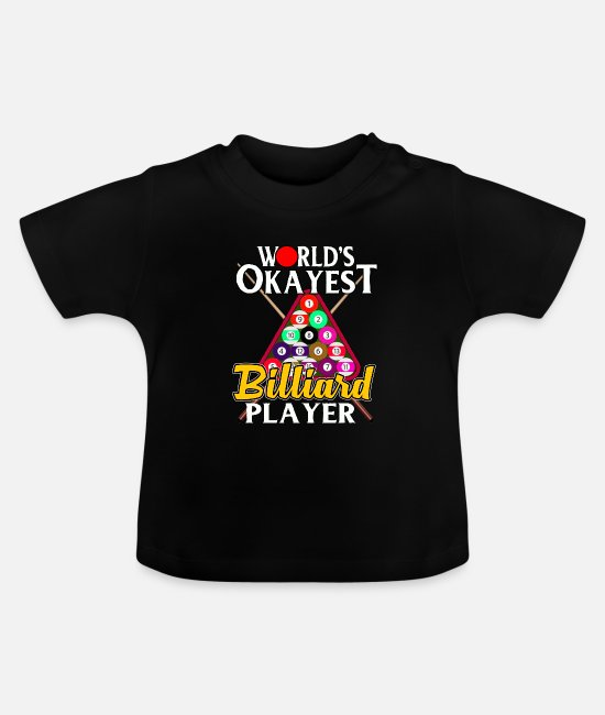 Nine Baby Clothes - Billiards Pool Bar Snooker Sport Hobby Gift - Baby T-Shirt black