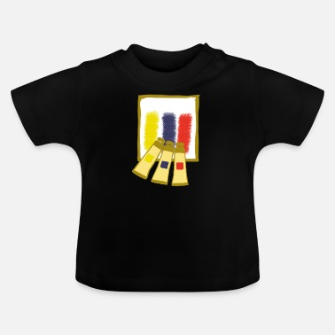 Artist Artist painting color palette - Baby T-Shirt