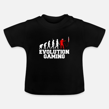 Udviklingslinje Evolution VR Virtual Reality Gamer - Baby T-shirt