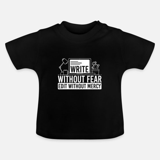 Journalist Baby Clothes - journalist - Baby T-Shirt black