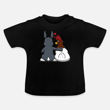 Rabbit Th Funny Easter Bunny Rabbit Love Colored Eggs - Baby T-Shirt