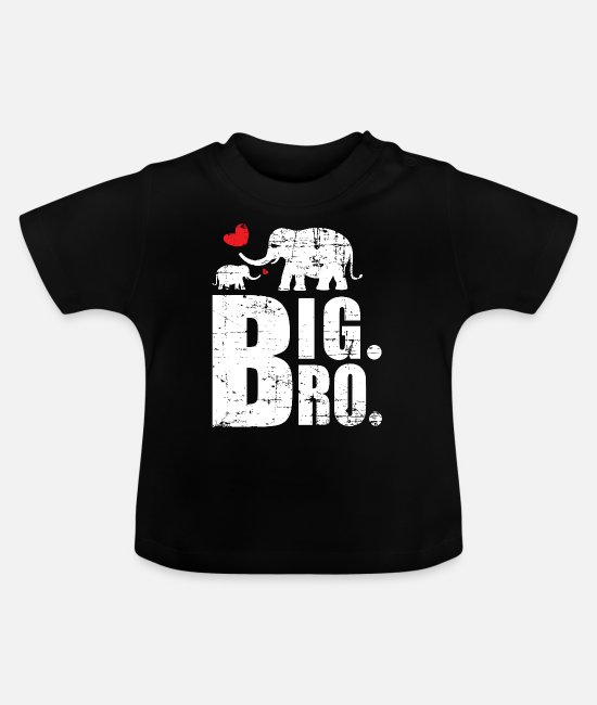 Big Brother Baby Clothes - big Brother - Baby T-Shirt black