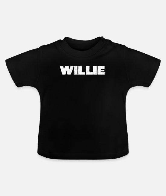 Country Baby Clothes - Willie Distressed - Baby T-Shirt black