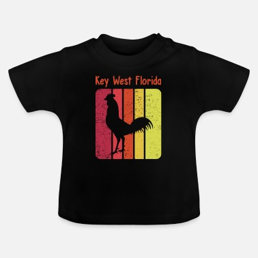 Retro- Zigeunerhuhn-Hahn Key West Florida - Baby T-Shirt