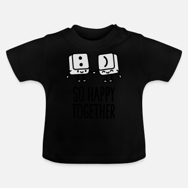 Happy Keyboard keys smiley - So happy together - Baby T-Shirt