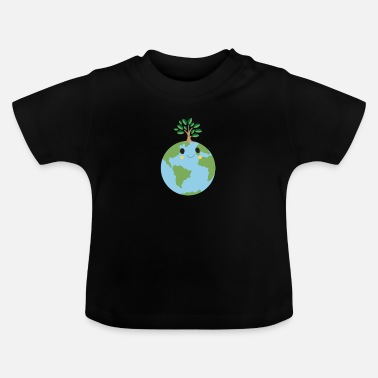 Grüner Planet - Happy Earth - Baby T-Shirt