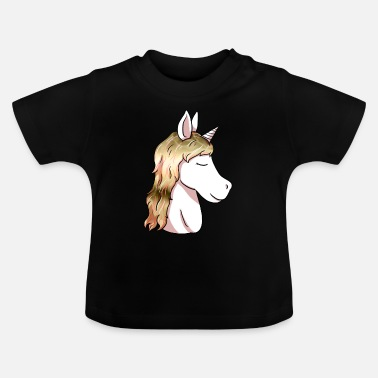 Head Unicorn head unicorn head unicorn head - Baby T-Shirt