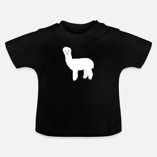 Hair Baby Clothes - Alpaca hairstyle curly head - Baby T-Shirt black