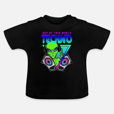 Electro Techno Out of this World Alien Alien - Baby T-skjorte