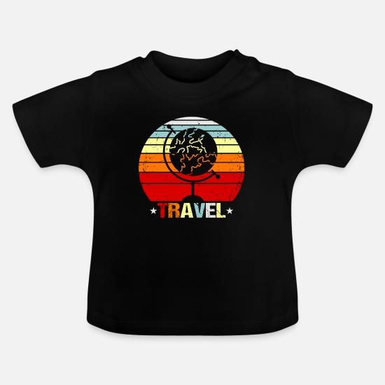 Travel Baby Clothes - Travel traveler gift idea - Baby T-Shirt black