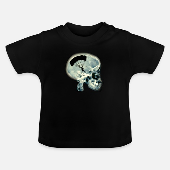 Birthday Baby Clothes - Fly paraglider - Baby T-Shirt black
