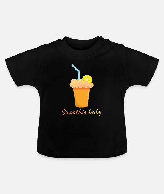 Lecker Baby T-Shirts - Smoothie - Baby T-Shirt Schwarz