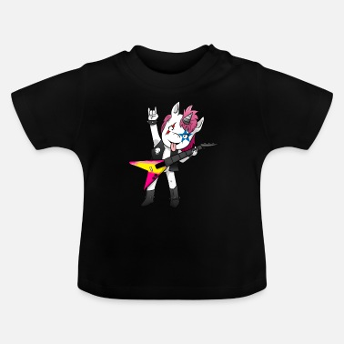 Heavy Unicornio de heavy metal - Camiseta bebé