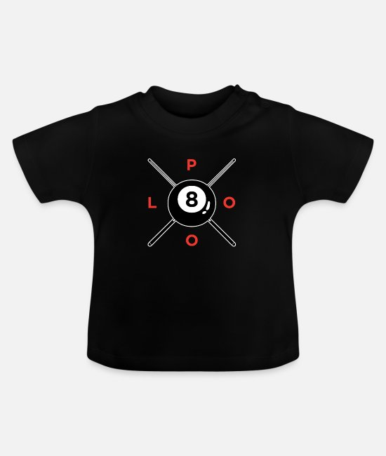 Pool Table Baby T-Shirts - Billiard Pool Ball Cue Pool 8Ball Retro Gift - Baby T-Shirt black