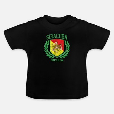 Cefalü Sicilia Flag and Shield with Trinacria - Siracusa - Baby T-Shirt