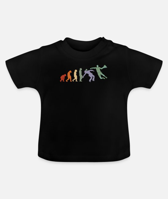 Training Baby T-Shirts - EVOLUTION Handball Taining Trainer Handballer - Baby T-Shirt black