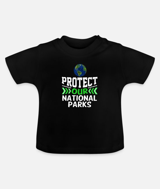 Save The World Baby Clothes - Environment Climate Protection Tree Earth Day Gift - Baby T-Shirt black