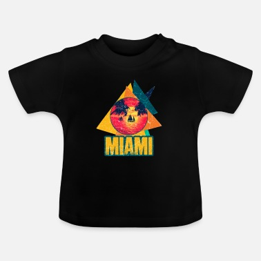 Summer Festival Miami Beach summer vacation USA 70s tourist - Baby T-Shirt