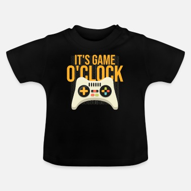 Pizza Gaming nerd gamer-controller gåva dator - T-shirt baby