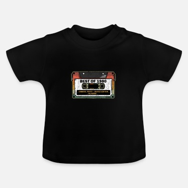 Since Best Of 1980 Vintage Cassette Funny Birthday Gift - Baby T-Shirt